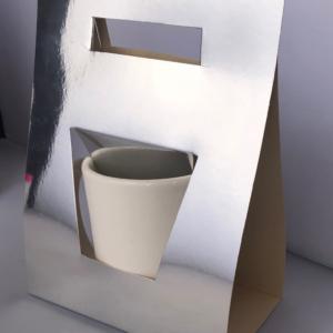 Caja Para Taza Plateada para sublimar